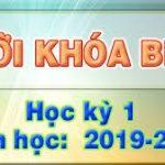 Thời khóa biểu HKI năm học 2019 – 2020