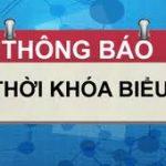 Thời khóa biểu giáo viên HK 1 áp dụng từ ngày 7/9/2020