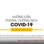 TÌNH HÌNH DỊCH BỆNH VÀ BIỆN PHÁP PHÒNG CHỐNG BỆNH COVID-19 TẠI TRƯỜNG HỌC
