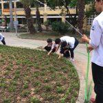 Đoàn viên thanh nien trường THPT Nhân Chính tích cực thực hiện tốt Công trình thanh niên